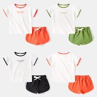 童装男童休闲套装儿童夏季运动服宝宝夏装两件套