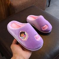 女童拖鞋冬季小公主宝宝棉拖鞋3-8岁防滑软底小孩家居鞋