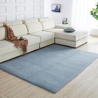 加厚珊瑚绒地垫 客厅茶几短绒地毯儿童防滑卧室小垫子满铺可y 灰色 加密加柔