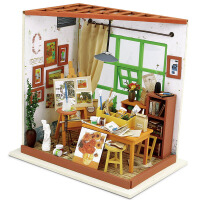 艾利图 立体拼图成人益智拼装模型DIY小屋女孩玩具创意礼物艾达画室