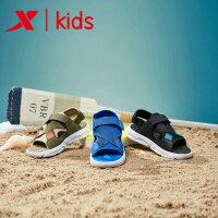 【特步限时直降】特步新品夏季男童凉鞋童鞋韩版中大童学生男孩沙滩鞋681215509239