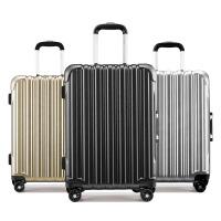 卡拉羊铝合金拉杆箱新品大空间20寸24寸商务出行旅行箱男女防刮升级铝框行李箱CX8610