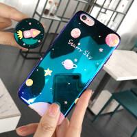 苹果6splus手机壳iPhone6女款6plus蓝光6s硅胶套全包软胶个性创意潮女sp潮牌ipon