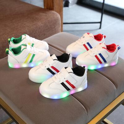 儿童亮灯鞋女童休闲发光鞋男童LED闪光板鞋