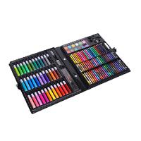 儿童绘画文具套装150件水彩笔蜡笔画笔礼盒 美术培训绘画工具 礼盒装