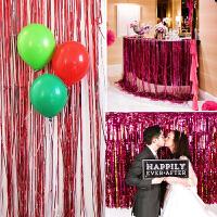 孩派 装饰用品 生日派对布置背景墙 婚礼婚房彩带婚庆 雨丝帘拉花