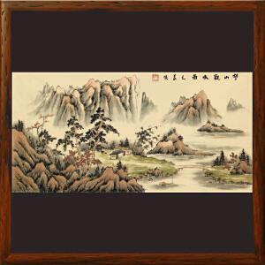 《望山观水图》毛义侠 中国书法大学教授 中国书法艺术研究院顾问R2923