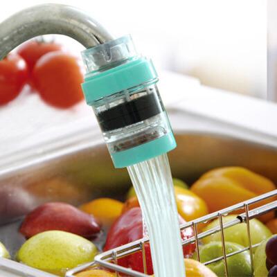 泰蜜熊水龙头防溅头过滤器嘴自来水净水器厨房家用滤水净化器节水头 支持积分抵现