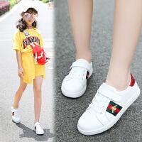 儿童小白鞋女童鞋子百搭春季休闲大童单鞋运动鞋