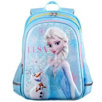 Disney迪士尼 FP8028A冰雪奇缘书包小学生女童 4-6年级休闲双肩包儿童背包 天蓝色当当自营