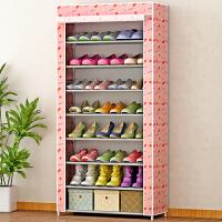 蜗家简易鞋柜鞋架 大容量单排鞋橱 加厚无纺布收纳柜 防尘储物柜 柜子 幸运樱桃