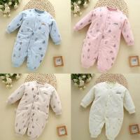 月子宝宝衣服冬装外穿婴儿52cm新生儿棉连体衣哈衣小孩子棉衣服