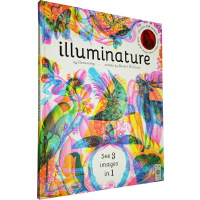 英文原版 Illuminature 附三色滤镜 超大本精装 点亮自然 光影魔术书 青少年STEM百科绘本图画书