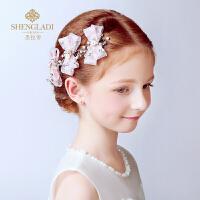 女孩女童礼服头饰发卡发夹演出配饰花童头饰儿童头饰公主发饰