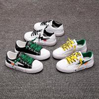 儿童鞋子男童板鞋2019春秋新款韩版女童运动鞋百搭潮童小白鞋春款