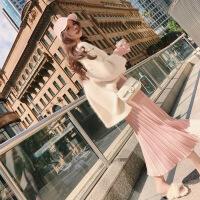 2019新款年新款初秋季女装秋款潮流连衣裙子网红秋冬季两件套装早秋装