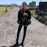 【双12狂欢购物节】灯芯绒羊羔毛外套女装冬季2019新款皮毛一体x2东大门短款穿搭韩版