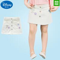 迪士尼童装夏季女童半身裙女孩中小童牛仔裙公主百搭短裙夏款裙子
