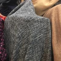 DIY毛呢格子呢子粗纺编织格子布头布料大衣裙子裤子西服面料y