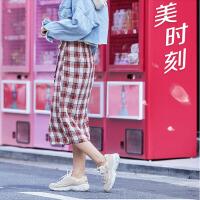 Skehers斯凯奇D'LITES官方秋冬新款熊猫鞋一代刺绣老爹鞋