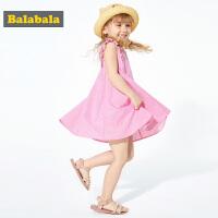 巴拉巴拉童�b女童�B衣裙夏季2019新款�和��l�y公主裙小童����裙子