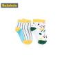 巴拉巴拉男童袜子棉春季新款透气中筒袜保暖儿童棉袜中大童两双装