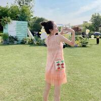 卡贝琳女很仙的粉色蛋糕裙连衣裙2019新款夏仙女超仙甜美网纱无袖背心裙子