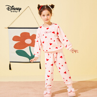 【4折�A估�r:71.4元】迪士尼女童加�q�A�I睡衣秋冬新款童�b�和�����可�垩�饧揖臃�套�b