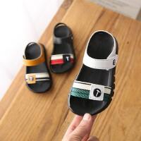 夏季儿童凉鞋男童女童防滑软底百搭宝宝魔术贴沙滩鞋
