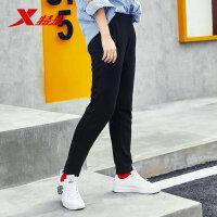 特步 女子针织长裤 舒适运动时尚休闲裤子882328639287