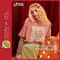 【2件2.5折:89】【猫和老鼠联名】妖精的口袋打底衫t恤2020春季新款女短袖上衣潮
