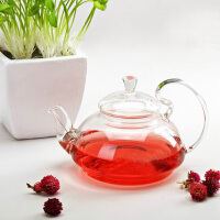 耐热玻璃花茶壶大容量创意玻璃高把压盖茶壶功夫茶具套装玻璃茶具650ML凉杯茶壶家用瓶耐热水杯杯子
