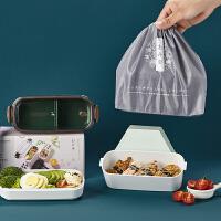 日本象普上班族可微波炉便当盒学生餐盒可爱减脂分隔健身便携套装透明盖子700ml