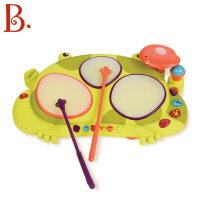 B.Toys比乐饶舌青蛙鼓儿童音乐玩具敲击乐器男女孩益智发光手拍鼓