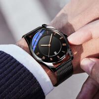新款概念电子全自动机械表韩版潮流学生手表男士运动防水男表