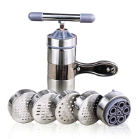 家用手压面条机 不锈钢手摇压面机 手动压面器 5个模板河捞面条机莜面栲栳栳