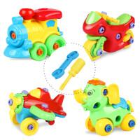 贝贝鸭宝宝拆装玩具益智组装车动手动脑可拆卸动物益智套装