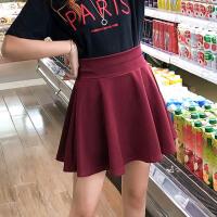 半身裙女学生韩版短裙新款显瘦高腰防走光带安全裤a字裙