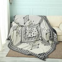 北欧民宿沙发毯地毯简约黑白几何全盖防尘保护罩盖毯沙发垫沙发巾y