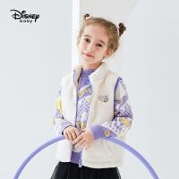 迪士尼女童加绒马甲2020秋冬新款儿童宝宝童装洋气卡通时尚坎肩潮