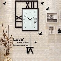 钟表挂钟客厅现代创意装饰欧式静音个性时尚卧室北欧家用石英时钟