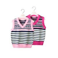 女童毛衣背心女孩宝宝套头马甲儿童中大童针织衫