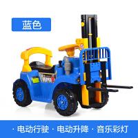 大号电动叉车玩具车可坐可骑儿童男孩宝宝四轮遥控充电挖掘机汽车c 单车加