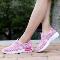 夏季老北京布鞋女鞋透气缕空网面运动鞋女休闲网眼懒人妈妈鞋网鞋