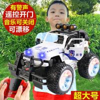超大号儿童遥控汽车充电动越野车警车玩具高速漂移遥控车男孩赛车