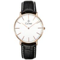 男表真皮带手表  防水时尚商务石英表男士学生腕表