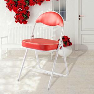 [当当自营]好事达 酷炫扇形钢折椅2139 红色 折叠休闲椅子 餐椅