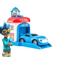 劲战炫车玩具 手表汽车布鲁威尔劲战炫车动漫模型车儿童弹射回力小玩具车 蓝色BLUEWILL 弹射屋子盒装