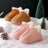 棉拖鞋儿童男女冬包跟室内毛毛加厚保暖婴幼儿宝宝小孩家居鞋