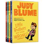 英文原版 Judy Blume作品 Pain and the Great One 4册合售 儿童章节小说书 中小学英语
